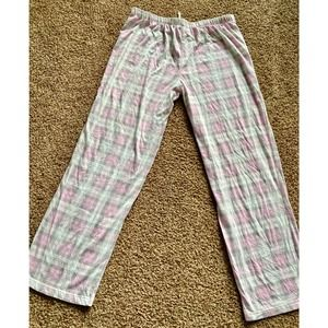 Secret Treasures medium pink plaid pajama pants